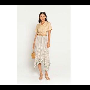 Tina Shirt Taupe organic made in Bali